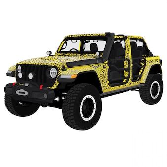 Ilustración de vector de jeep safari