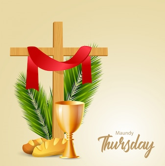 Ilustración de vector de jueves santo