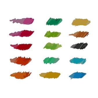 Ilustración de vector de lápices watecolor para fondo creativo doodle de conjunto de educación