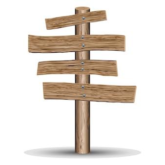 Ilustración de vector de letreros de madera de estilo retro