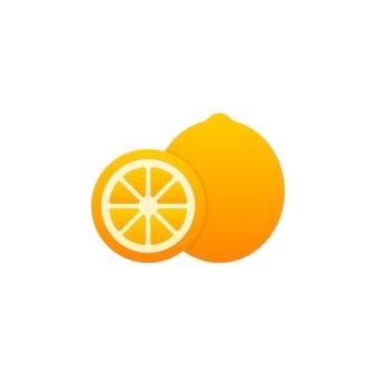 Ilustración de vector de limón fresco