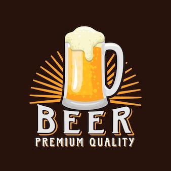 Ilustración de vector de logotipo de cerveza