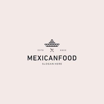 Ilustración de vector de logotipo de comida mexicana