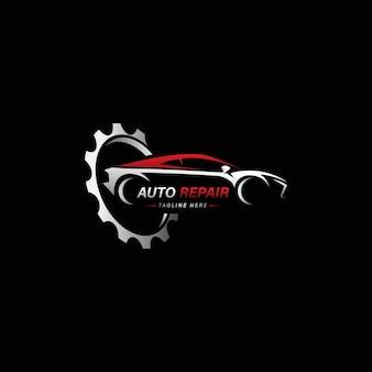 Ilustración de vector de logotipo de servicio de coche de reparación de automóviles