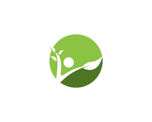 Ilustración de vector de logotipo de vida de salud