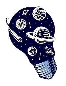 Ilustración de vector de luces espaciales
