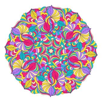 Ilustración de vector de mandala dibujado mano abstracta
