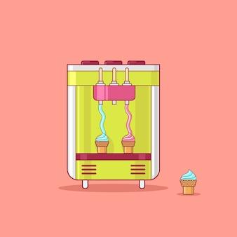 Ilustración de vector de máquina expendedora de helado