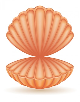 Ilustración de vector de mar de shell