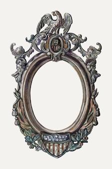 Ilustración de vector de marco de imagen vintage, remezclada de la obra de arte de katherine hastings