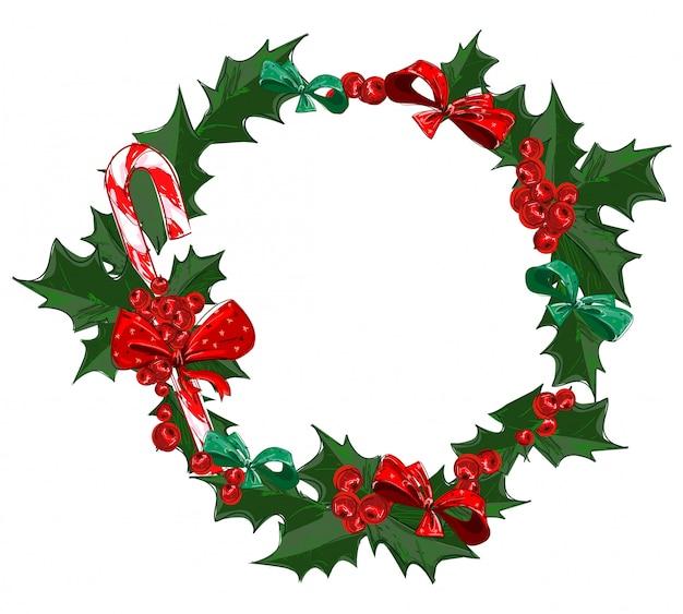 Ilustración de vector de marco de navidad