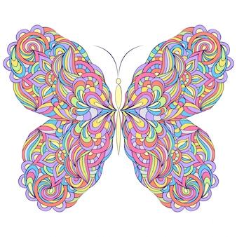 Ilustración de vector de mariposa abstracta colorida