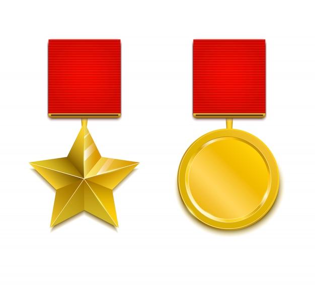 Ilustración de vector de medalla militar