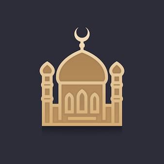 Ilustración de vector de mezquita
