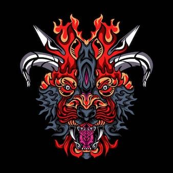 Ilustración de vector de monstruos oscuros