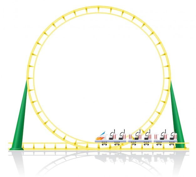 Ilustración de vector de montaña rusa