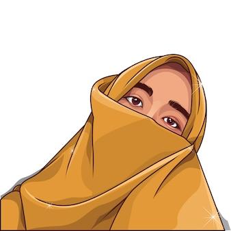 Ilustración de vector de mujer musulmana