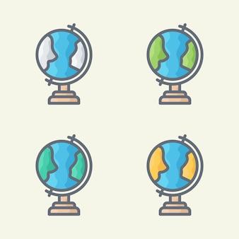 Ilustración de vector de mundo cuatro estaciones
