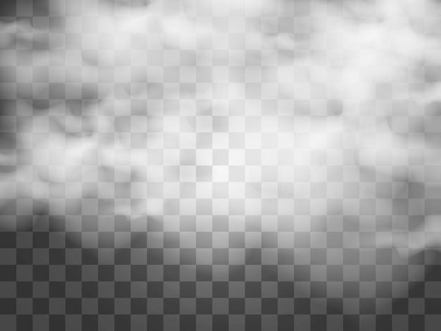 Ilustración de vector de nubes sobre un fondo transparente