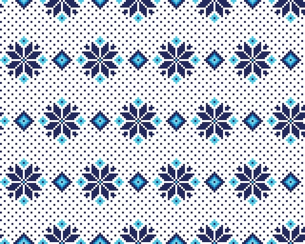 Ilustración del vector del ornamento inconsútil popular ucraniano del modelo. ornamento étnico elemento de borde. patrón de bordado de punto del arte popular ucraniano, bielorruso tradicional - vyshyvanka