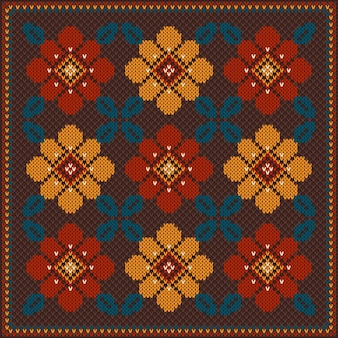 Ilustración de vector de ornamento de patrones sin fisuras popular. ornamento étnico