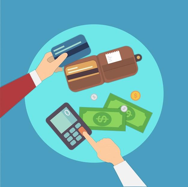Ilustración de vector de pagos gastos generales. conjunto colorido