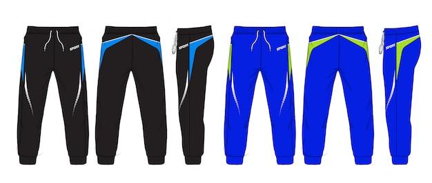 Ilustración de vector de pantalones deportivos.
