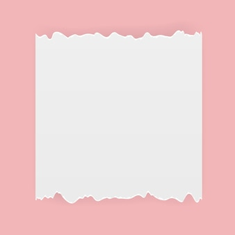 Ilustración de vector de papel rasgado de corte realista. eps10