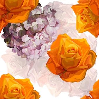 Ilustración de vector de patrón floral transparente
