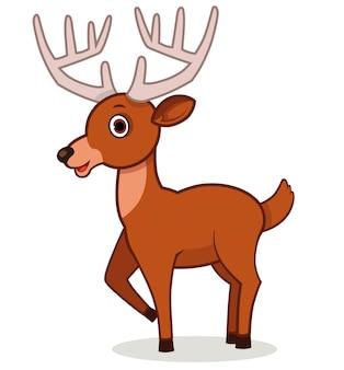 Ilustración de vector de personaje de ciervo de dibujos animados
