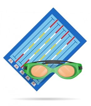 Ilustración de vector de piscina