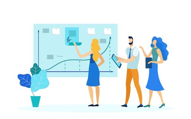 Ilustración de vector de planificación de estrategia empresarial
