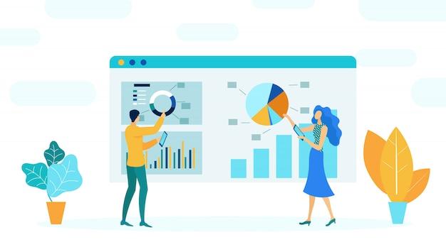 Ilustración de vector plano de administración financiera