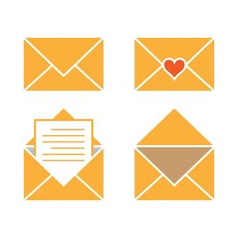 Ilustración de vector de plantilla de diseño gráfico de correo