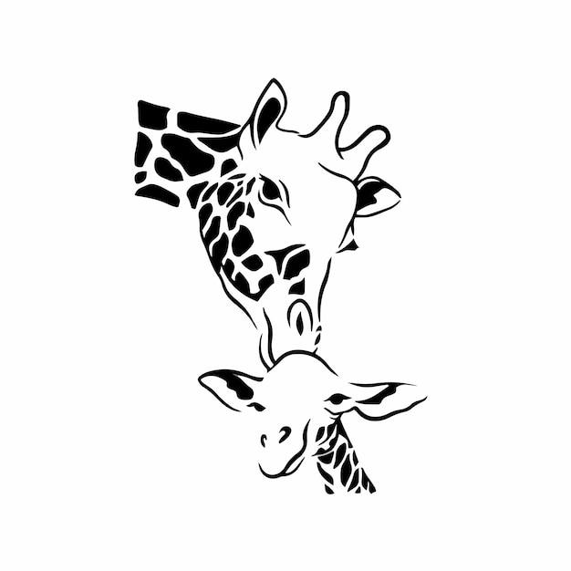 Ilustración de vector de plantilla de diseño de tatuaje de logotipo de símbolo de madre y bebé