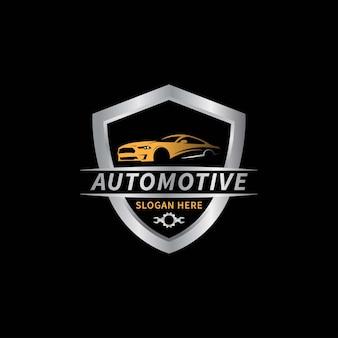 Ilustración de vector de plantilla de logotipo automotriz de coche