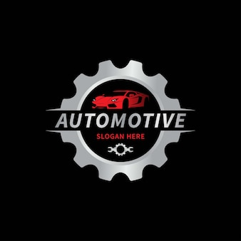 Ilustración de vector de plantilla de logotipo automotriz de coche Vector Premium