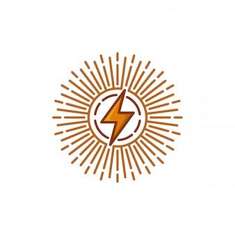 Ilustración de vector de plantilla de logotipo eléctrico