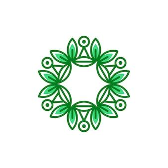 Ilustración de vector de plantilla de logotipo floral eco