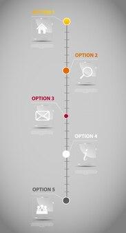 Ilustración de vector de plantilla de negocio infografía línea de tiempo