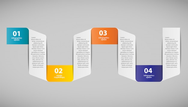 Ilustración de vector de plantilla de negocio de infografía