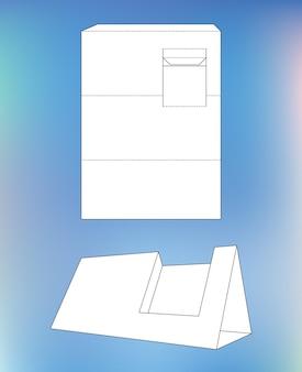 Ilustración de vector de una plantilla de paquete de caja de cartón