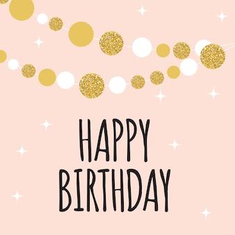 Ilustración de vector de plantilla de tarjeta de fondo abstracto feliz cumpleaños eps10