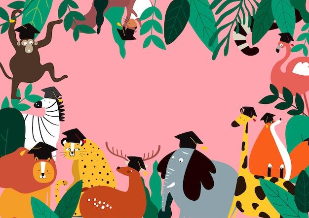 Ilustración de vector de plantilla de tema de animales