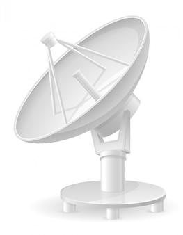 Ilustración de vector de plato de satélite