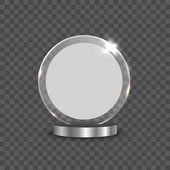 Ilustración de vector de premio trofeo de cristal