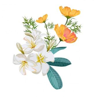 Ilustración de vector de ramo de flores