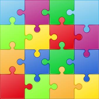 Ilustración de vector de rompecabezas cuadrado