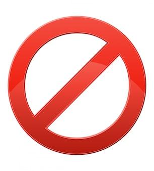 Ilustración de vector de señal de prohibición