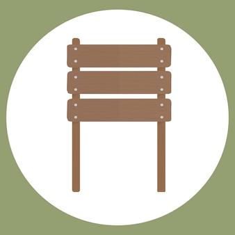 Ilustración del vector de signo en blanco
